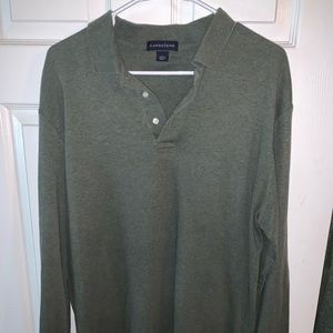 Men's size large green polo style shirt